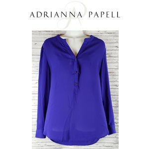 Adrianna Papell Shear Pullover Long Sleeve Shirt